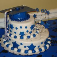 Dsc00987.jpg I made this cake for my son's high school graduation. It was so hot in Georgia, the cake was melting before I could put it together...