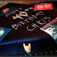 Motley Crue Cake   Edible images of album covers. Fondant details. TFL!