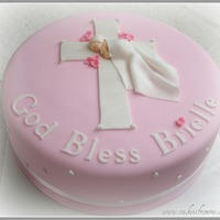 "Baby Girl Baptism   Fondant ""baby"" from mold. (Most requested cake!)"