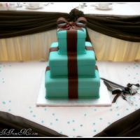 3 Tier Ribbon Box Wedding Cake   Fondant, Fondant Ribbon & Bow