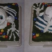 You Go Ghoul-Friend Happy skeleton crawling out to wish you a Happy Halloween. I have both front and back pictured.