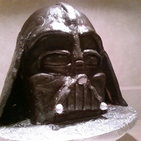 Darth Vadar 3D Cake I found a how to on how to make this cake on Cakecentral.com and did the best I could. I made it for a Groom's cake. I couldn't...