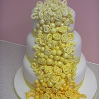 Swirls And Pearls Dummy Wedding Cake design I came up with.
