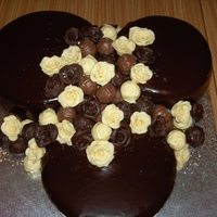 Chocolate Overload Cake I did several years ago for a 18th birthday for a friends daughter. The 3 cakes a all covered in chocolate ganache then decorated with...