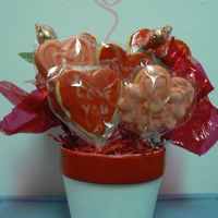 Valentine Cookie Bouquet NFSC & Antonia74's RI. This was a sample I made so the teens in our church could make some to sell as a fundraiser. They made 36...