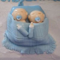Twin Boys Baby Shower Cake closer look