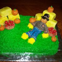 Harvest Cake Harvest Cake I made for my county fair, I won first place, $4 LOL I'm rich!