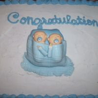 Twin Boys Baby Shower Cake It's kind of plain. I did'nt have a lot of time.