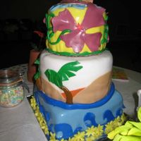 Beach Party Side view of the cake