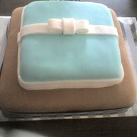 Practice Blue Brown Cake This is my 4th cake. Decided to practice some cake recipes to find out the right one for a birthday cake I'm about to make. Made a...