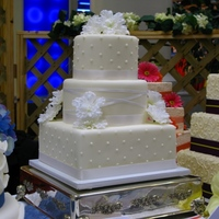 Pretty In White Classic white with satin ribbon - another show cake!