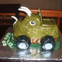 Monster Truck This cake was made with 2 loaf pans and one square cupcake for the top. One layer is chocolate and one layer is vanilla with a buttercream...