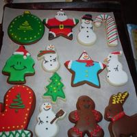 Christmas Cookies Gingerbread and sugar cookies decorated with royal