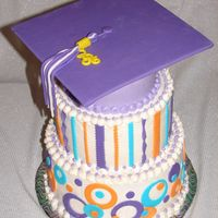 Graduation Cake Top View Same cake as previously posted, top view.