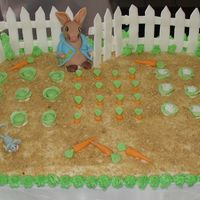 Peter Rabbit Baby Shower Cake This is a full view of my cake that was previously posted as a close up. I had many requests for a full view. The cake was a Peter Rabbit...