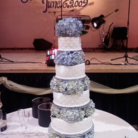 My Favorite Wedding Cake! bottom tier was the only real cake..they wanted the wow factor.