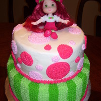 Strawberry Shortcake Two tiers, 10 and 8 inch rounds. All BC!