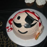 Pirate Cake   Pirate cake with buttercream and fondant