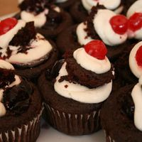 Vegan Chocolate Cherry Cupcakes From Vegan cupcakes take over the world. These are sooooo good!