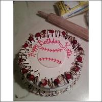 Ice Cream Baseballcake my 1st attempt at an ice cream cake