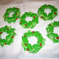 Holy Wreath Christmas Cookies Sugar cookies with royal icing
