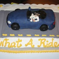 Bmw Z4 70Th Birthday Cake  Ordered for my sister's FIL's 70th birthday. He has a beloved navy blue Z4 and the MIL gave me a terrific picutre of him in it...