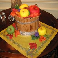 Wooden Barrel Of Apples And Fall Leaves What a fun cake to make!!! I got all sorts of ideas and inspiration from fabulous other CCers--thank you so much! Ordered for a...