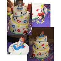 Alice In Wonderland Baby Shower This cake was made to fulfill a Baby Shower order for an Alice in Wonderland theme...the shower hosts wanted Alice to look like the Momma...
