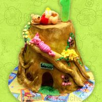 Winnie The Pooh On A Log The log is inspired by Debbie brown
