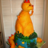 Cartoon Dinosaur Client sent me a picture of the plate they were using for the child's first birthday. This is my version of the dinosaur. Thanks for...