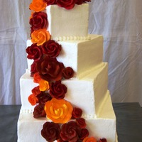 "Roses Cake is covered in buttercream (sizes 4"", 6"", 8"", and 10""). Roses are gumpaste."