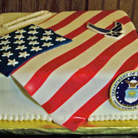 Air Force My neighbor requested an Air Force cake for her nephew that was leaving for Iraq and this site had so many great examples that I couldn&#...