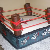 Wwe Wrestling Ring   All BC with Choc Covered Marshmallow posts The only thing non edible is the yarn....Thanks CC for all the great ideas!
