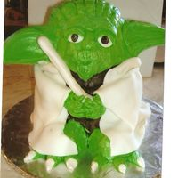Yoda I made this cake of Yoda for my son's 30th birthday. I used my Wilton stand up teddy bear pan and relocated the ears and feet. The...