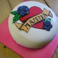 Mothers Day Cake Mothers day cake inspired by the sailers tattoo