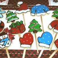 Christmas Cookies NFSC with Alices Icing. These were a sampling from the bouquets that I made during Christmas.