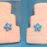 Wedding Cake Cookies NFSC with MMF, texture mat, and pearl dust.I did 60 of these for my niece's wedding. I really liked how they turned out.