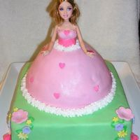 Barbie Birthday Cake A Barbie cake for my girls' party. This is the first time I've used MMF to cover an entired cake, and I was very happy with the...