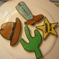 Cowboy Cookies For my nephew's 1st birthday.NFSC with Alice's Cookie Icing
