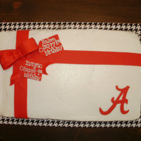 Roll Tide! WASC, buttercream & fondant accents. Made for two sisters born on the same day, one year apart...