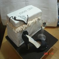 Shoe Shoebox Jimmy Choo Cake   My first attempt at making a full size shoe. It was a lot of work but it was worth it.
