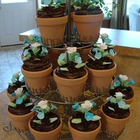 Baby Shower Flower Pot Cupcakes I made these flower pot cupcakes for my best friends baby shower. The theme was a Baby Blooming Brunch. The cupcakes were chocolate with...