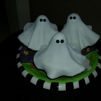 Ghost Cupcakes  I saw other fondant ghost cupcakes on Cake Central and wanted to try myself. Thanks for the inspiration. I made three plates of these for a...