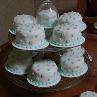 Baby Shower Mini Cakes  I made 22 of these mini 3-layer french vanilla cakes with almond buttercream and fondant for my sil's baby shower. She was very...
