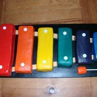 "Xylophone Cake I made this cake for a friend's 2 year old daughter. She had a kinder musik party. Several kids tried to pick up the ""hammer&quot..."