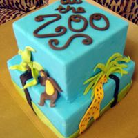 Zoo Cake This was a fake cake for a zoo auction! I had so much fun making this one!