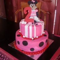 Minnie Mouse Birthday Cake This was for a 2 year old who wanted the Mickey's Clubhouse Minnie.