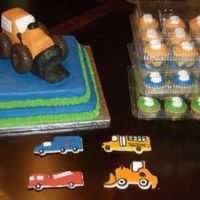 "Things That Go! This was for my 3 year old Nephew! All he wanted for his birthday was a ""gorange digger!"" Yes, those are doughnut wheels (his..."