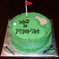 "Golf ""fore-Tee"" Golf enthusiast turned forty and we decided to get cheesy! buttercream with fondant ball and flag"