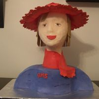 Red Hat Lady This idea came from the Spiderman cake idea....for the Red Hat Society.
